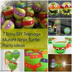 7 Easy DIY Teenage Mutant Ninja Turtles Party ideas www.kidspartybible.co.uk