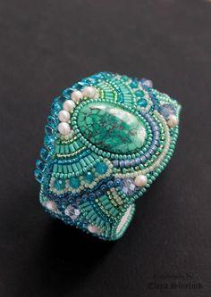 Embroidered+bracelet++beadwork+jewelry++by+LenaSinelnikArt+on+Etsy,+$88.00