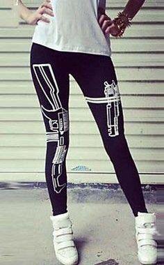 Gun Pattern Sports Legging