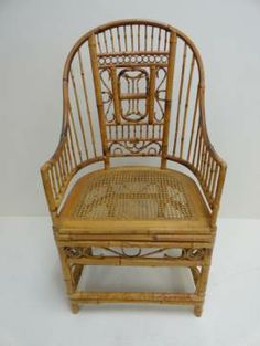 Vintage 1980s Burnished Bamboo Occassional Chair