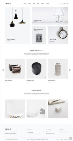 Buy Uniqlo - Minimal HTML Template by codecarnival on ThemeForest. Uniqlo – Minimal HTML Template is a clean and elegant design – suitable for selling clothing, fashion, high fashion,. Minimal Web Design, Design Web, Design Blog, Page Design, Clean Design, Website Design Inspiration, Website Design Layout, Web Layout, Layout Design