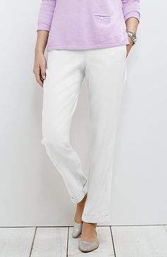 easy linen-stretch pants