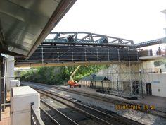 Lafayette bridge under construction