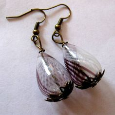 Large Antique Bronze Burgundy Wine White Swirl by MystiqueCat, $5.00