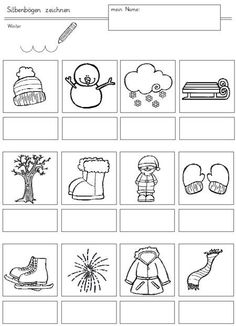 """10 simple copy templates - thematic word fields: Internal: """"News"""", later """"Back to school"""" Winter Activities, Family Activities, Learning To Write, Syllable, Monologues, Kindergarten Math, Back To School, Magic, Teaching"""