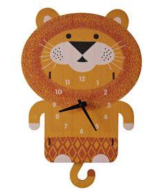 Loving this Lion Pendulum Wall Clock on #zulily! #zulilyfinds