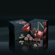 Gulliver Gourmet Selection, Belgian 72% Dark chocolate cover freeze dried whole Sour Cherries..