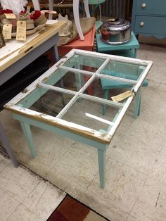 Love This Twotoned Coffee Table Blakes Projects Pinterest Coffee - Window coffee table for sale