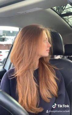 Ginger Hair Color, Strawberry Blonde Hair Color, Haircuts Straight Hair, Hair Color Auburn, Brown Blonde Hair, Long Layered Hair, Aesthetic Hair, Light Hair, Hair Looks