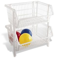 Stacking baskets for pantry