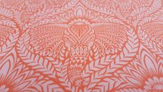 Tula Pink - Designer Craft Cotton Fabric - Eden: Deity in Orchid - Elephant Print - Pink, Coral, Salmon