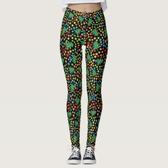 Funky Christmas Trees and Polka Dots Leggings - tap/click to personalize and buy #funky #christmas #fun #trees #polka Polka Dot Leggings, Diy Funny, Look Cool, Women's Leggings, Dressmaking, Things That Bounce, Christmas Trees, Cool Designs, Polka Dots