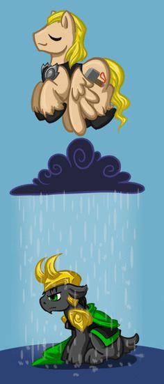 Thor and Loki ponies...CLICK IT!! TOO CUTE NOT TO REPIN!!! <- eeeeeeeeeeeee