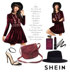 """""""shein"""" by merimajamak ❤ liked on Polyvore featuring Maison Michel, Dolce&Gabbana and Gianvito Rossi"""