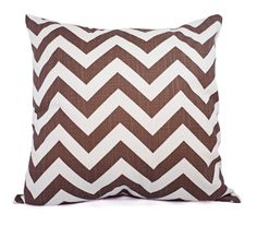 Two Brown Pillow Covers - Brown Chevron Throw Pillow Covers - Decorative Pillow 12x16 12x18 14x14 16x16 18x18 20x20 22x22 24x24 26x26 Pillow