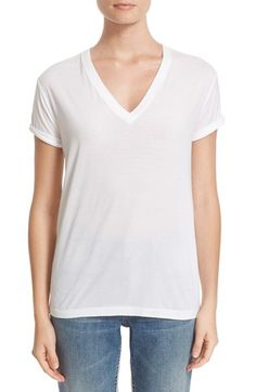 Free shipping and returns on T by Alexander Wang Superfine Cotton Jersey Tee at Nordstrom.com. Rolled-up sleeves deliver a casual, slightly rebellious air to this classic V-neck tee cut from the softest cotton jersey.