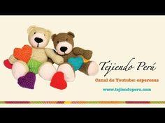 Osito de San Valentín tejido en crochet (Parte 2: terminando la cabeza y tejiendo el cuerpo) - YouTube