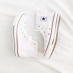White Hightop Converse! Size-10