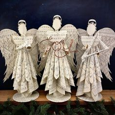 Large Sheet music tree topper angels by Doxology Crafts Sheet Music Crafts, Music Paper, Paper Art, Paper Crafts, Sheet Music Ornaments, Christmas Booth, Christmas Angels, Christmas Ornaments, Angel Christmas Tree Topper