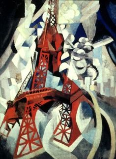 Tour rouge 1911  Né en 1885 et mort en 1941, Robert Delaunay est à la source d'une variante du cubisme baptisée « orphisme » par Apollinaire. A l'encontre de Braque et Picasso, il prend souvent pour thème la modernité et l'environnement urbain dans sa peinture figurative, en cela rejoint par son ami Fernand Léger. Synthétisant les recherches des futuristes italiens et les théories d'Eugène Chevreul sur la loi du contraste simultané des couleurs, (...)