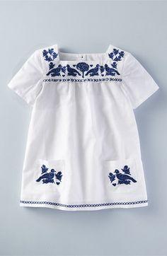Mini Boden 'Embroidered Folk' Tunic (Toddler Girls, Little Girls & Big Girls)