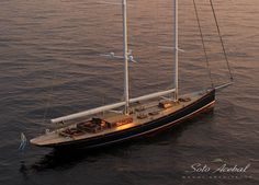 53m Dona Francisca classy looking schooner yacht by Astillero Buquebus based in Uruguay. Dona Francisca was designed by Soto Acebal from Argentina.