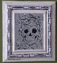 Mirror Mosaic Skull