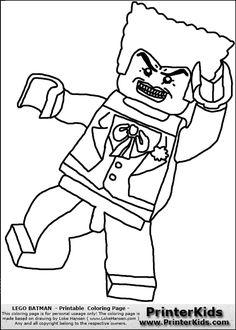 color pages for batman's villians lego | lego batman joker printable coloring page coloring page with a lego ...