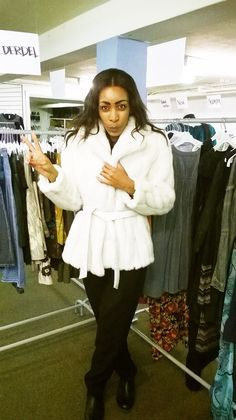 Imitated fur coat