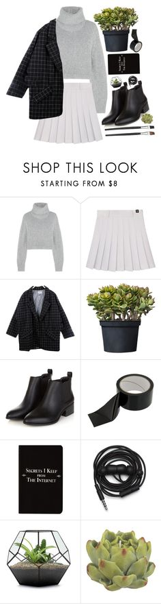 """""""I hope your soul is changing"""" by my-sweet-lolita ❤ liked on Polyvore featuring Dion Lee, Rich and Damned, Urbanears and Crate and Barrel"""