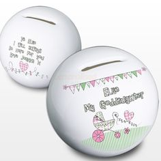 Personalised Goddaughter Money Box - Pram Design  from Personalised Gifts Shop - ONLY £14.95