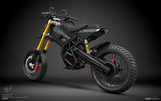 WAYRA Electric Motorbike Vision from Designer Pablo Baranoff Dorn – Vehicles is art Mini Moto, Motorbike Design, Futuristic Motorcycle, Motocross Bikes, Electric Bicycle, Funny Art, Custom Bikes, Cars And Motorcycles, Honda Motorcycles