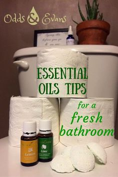 Essential oils inside your toilet paper roll?! Some easy clean, fresh bathroom tips in this short post and video. |OddsandEvans.com
