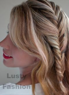 French fishtail one side braid hairstyles 2013