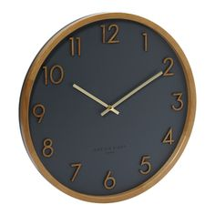 Scarlett Wall Clock (Charcoal Grey) By One Six Eight London - Various Sizes | hardtofind.