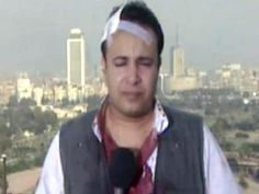 BBC journalist Assad Sawey beaten by police in Egypt, then goes on camera to report about it. (2011)