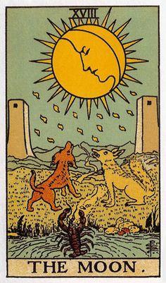XVIII the moon tarot card