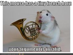 Mouse with a french horn