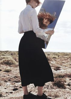 """Julia Hafstrom in """"Rose des Vents"""" by Txema Yeste for Numéro #161"""