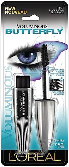 Makeup Preview, Before/After Comparison Photos, Swatches: L'Oréal Paris Voluminous Butterfly Mascara, The Infallible Blackbuster Liquid Liner