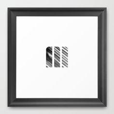 M Strokes Framed Art Print by Matt Irving - $37.00