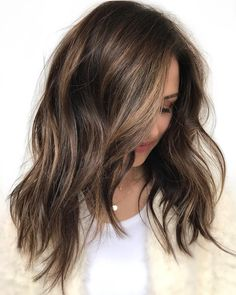 Brunette Hair With Very Subtle Highlights