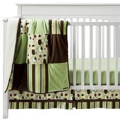 Trend Lab Giggles 3Pc Crib Bedding Set - Sage/Brown : Target Mobile