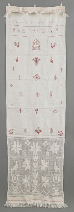 Berks County, Pennsylvania embroidered show towel