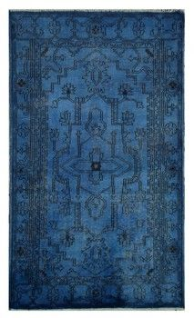 Over-dyed Rug, Blue