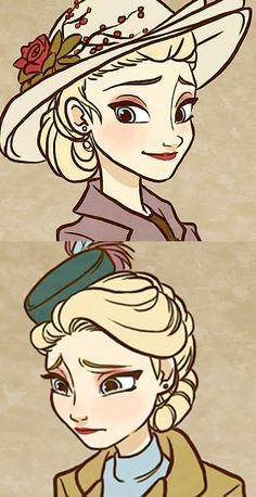 http://nightliight.deviantart.com/art/Till-We-Meet-Again-Character-Outfits-481450503 40's Elsa