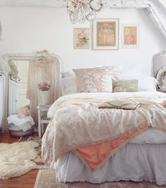 Romantic Room, White Chic, Antique Market, White Decor, French Antiques, Perfect Place, Master Bedroom, I Shop, Shabby Chic
