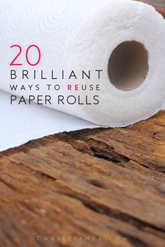Here are 20 ideas for you on how you can reuse and repurpose those old paper rolls from toilet paper and paper towels