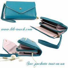 Mini sac pour smart-phone, sac pochette, tout en un, porte monnaie. www.lili-touch.com