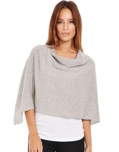 58397e3476 Upgrade your loungewear with the figleaves nightwear Bliss Cashmere Poncho.  The epitome of easy-